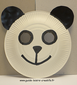 guide loisirs cr atifs le masque panda. Black Bedroom Furniture Sets. Home Design Ideas